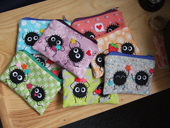 Collection of soot spirited away pouches (yael555) Tags: money anime cute colors bag studio pretty handmade wallet girly crafts small adorable craft sprite away felt purse pouch totoro kawaii miyazaki animation ghibli accessories etsy neighbour hayao studioghibli oot spirited susuwatari