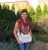 Echo Flower Shawl+ Laminaria (LucciolaS) Tags: triangle silk shawl knitted beaded knitty accessory estonian dyeforyarn