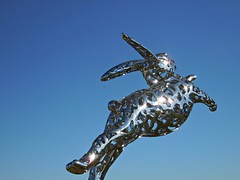 Bunny Foo Foo hopping across the vineyard (kenjet) Tags: california sculpture rabbit bunny art metal hall lawrence vineyard stainlesssteel steel argent hopping sthelena bunnyfoofoo foofoo lawrenceargent hallwines