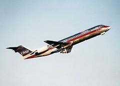 US Air                             Fokker 100 (Flame1958) Tags: print f100 scan 100 loganairport bos bostonloganairport usair fokker fokker100 kbos usairfokker100 usairf100