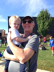 """Grandpa Miller with Paul at the Tiger Trails Invite • <a style=""""font-size:0.8em;"""" href=""""http://www.flickr.com/photos/109120354@N07/22830598887/"""" target=""""_blank"""">View on Flickr</a>"""
