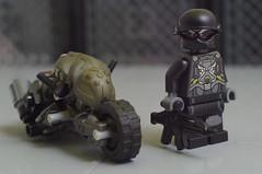 Mitsuhide and his Buell XC Vulture (02) (F@bz) Tags: bike lego motorcycle akira cyberpunk