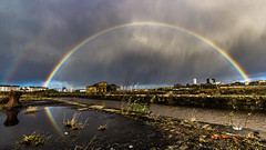 Govan Dry Docks (ianmiddleton1) Tags: rain reflections scotland rainbow glasgow hdr govan hss sliderssunday