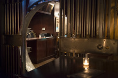 Closing one door so that others may open. (wwward0) Tags: door nyc bar night pub gate candle manhattan indoor financialdistrict cc vault fidi wwward0