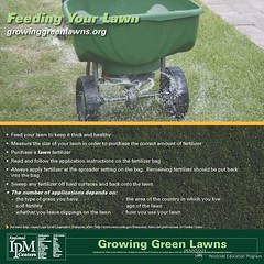 Growing Green Lawns - Feeding Your Lawn poster (The NYSIPM Image Gallery) Tags: new york grass landscape university state feeding lawn pennstate maintenance program fertilizer cornell nitrogen ipm epa universityofmaryland usda potassium zoysia cals cornelluniversity lifescience phosphorus fertilize fescue turfgrass kentuckybluegrass integratedpestmanagement perennialrye nysipm ipmcenters neipmc bermundagrass