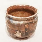 "<b>Picnic Jar</b><br/> Marguerite Wildenhain, 1970s<a href=""http://farm1.static.flickr.com/778/23502923912_2a37b4756d_o.jpg"" title=""High res"">∝</a>"