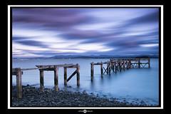 Old Aberdour Pier (kwallace88) Tags: old longexposure blue sea sky seascape water clouds landscape coast scotland pier nikon rocks fife forth leefilters hitechfilters triggertrap