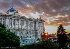 Royal Palace of Madrid (Spain) (Ignacio Ferre) Tags: verde madrid españa spain panasonic lumix palaciorealdemadrid palaciodeoriente palacio palace edificio building arquitectura sunset atardecer royalpalaceofmadrid