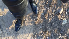 Muddy celebration of 2017 (muddy-suit) Tags: mud muddy shoes patent leather suit fetish dirt