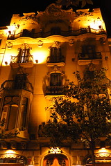 Gracia neighborhood (arkaitz ZO) Tags: gracia barcelona bcn artdeco modernism architecture arquitectura catalunya longexposure night nightlights 2016 summertime lowlight