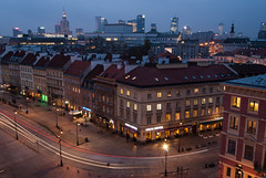 Warsaw Skyline (Explore 18.12.2016) (dressk) Tags: warsaw poland polska long exposure longexposure city night blue hour architecture nikon d40x nikond40x