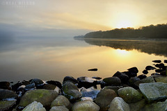 Sunrise (Neal J.Wilson) Tags: sunrise sunsets coastlines coasts winter sea water reflections still moods landscapes jutland denmark d3200 danishlandscapes nikon nordic nature rocks scandinavia