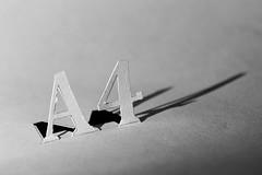 A4 (Mario Donati) Tags: justwhitepaper macromondays nikon d3100 sigma70300mm bw