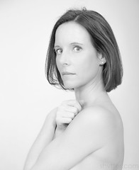 Beauty II (#Weybridge Photographer) Tags: hot sexy cute beautiful pretty woman lady girl female model canon eos dslr slr 5d mlii high key highkey topless naked nude arms crossed cross studio