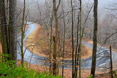 NC 215 Wet Hairpin (esywlkr) Tags: misty rain weather nc215 highway hairpin pisgah nationalforest nc wnc northcarolina winter
