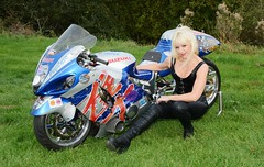 Jackie/Woody 376 (Fast an' Bulbous) Tags: superstreetbike suzuki hayabusa turbo woody japanese bike motorcycle fast speed power girl woman mature milf hot sexy chick babe blonde black leather pvc jeans tight leggings boots people outdoor santa pod nikon d7100 gimp biker corset jackierumble httpswwwinstagramcomjackierumble httpswwwfacebookcomjackiegee773