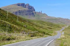 It's a bumpy road (RIch-ART In PIXELS) Tags: oldmanofstorr isleofskye scotland trotternishridge leicadlux6 dlux6 leica road mountainridge mountainside ridge grassland field schotland unitedkingdom landscape