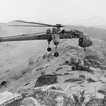AN KHE 1967 - Giant CH-54 'Flying Crane' helicopter from the 1st Cavalry Division thumbnail