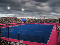 Hockey, London 2012 (Justgetdancey) Tags: olympics londonolympics london2012 2012olympics london 2012 hockey sport outdoors capital city england queen elizabeth olympic park stratford astroturf