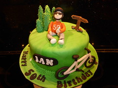 Mountain Bike Cake (Victorious_Sponge) Tags: mountain bike cake 50th 40th
