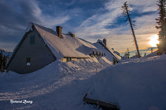 Sunset at Paradise in Mount Rainer (simao2015) Tags: ice icicle snow mountrainer paradise