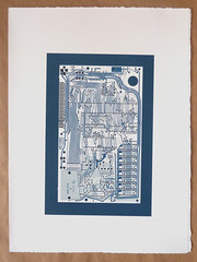 Sinclair ZX Spectrum Issue One circuit portrait screen print (Euphy) Tags: circuit portrait pcb board design layout grid sinclair spectrum zx art screen print silkscreen ink paint somerset satin acrylic retro gaming computer 80s