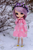 Debbie in snow (Pullip  Romantic Alice) (kyuo) Tags: pullip poland pink japanese doll romantic alice flowers winter