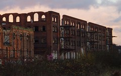 Sinister and brooding - derelict GNR warehouses at dusk at Nottingham London Road (Street.Watcher) Tags: nottingham nottinghamlondonroad station gnr warehouses derelict sunset