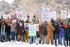 IMG_5599.jpg (spread_peace_now) Tags: colorado cortez montezumaallianceforunity southwest usa womensmarchforunity advertising allgenders creative education hope midday peace photographer positivity protest publications rights signs snow winter women