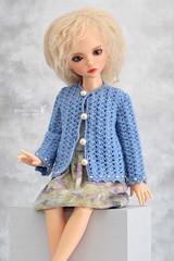Scarlett has a new cardigan (Maram Banu) Tags: doll bjd iplehouse kid lonnie blue fairystyle marambanu