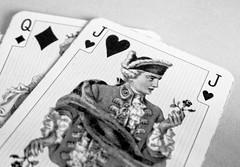 Jack the Lad (Smiffy'37) Tags: macromondaybw cards jack blackwhite miniature objects stilllife macro closeup