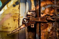 Rail Car Art Series No. 4 (hutchphotography2020) Tags: traincar railcar rust corrosion spraypaint latch texture