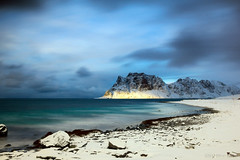 Do you remember your last day on earth? (OR_U) Tags: 2017 oru norway lofoten uttakleiv beach winter ice snow storm le longexposure mountain sunspot clouds sea ocean water rocks blue bebornbeton coast motion movement hss sliderssunday