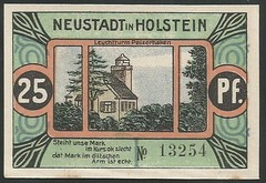 Neustadt in Holstein - 1/8 (NoeCR) Tags: notgeld alemania germany neustadtinholstein faropelzerhaken papelmoneda notafilia worldpapermoney emergencymoney dinerodeemergencia