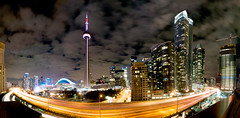 Toronto Revisit (Brandon_Hilder) Tags: cartrails cityscape lighttrails toronto