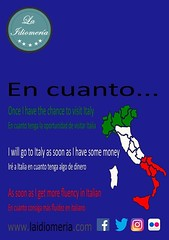 Appena imparerai l'italiano  #laidiomeria #encuanto #grammar #italy #italia #assoonas #school #english #academia (laidiomeria) Tags: grammar english encuanto italy school academia assoonas laidiomeria italia
