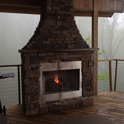 Outdoor Gas Fireplace, Signal Mtn, Tn.