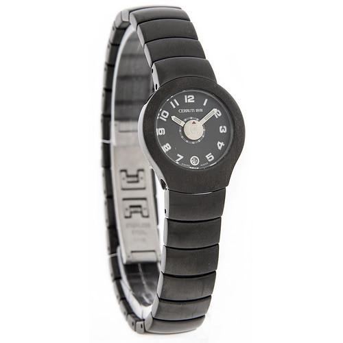 96cf124ddc Cerruti 1881 Ladies Black Ion Plated SS Swiss Quartz Watch CT702.158.43