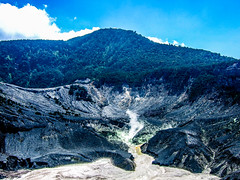 The crater of Tangkuban Perahu, Indonesia (yousufkurniawan) Tags: travel mountain nature landscape volcano crater