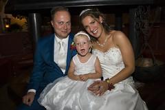Het bruidspaar & Eline