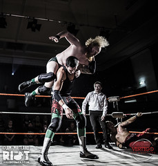 Eddie Dennis and Dick Morgan vs Mike Bird and Jonathan Windsor 20 (riotduck) Tags: bird mike ian cub panda williams wrestling dick vertigo delta jr rush pro eddie morgan dennis marty wrestlers scurll
