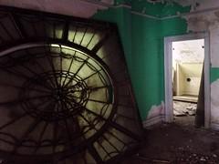 The Half Missing Mansion (EsseXploreR) Tags: new abandoned missing skylight nj half jersey mansion demolished partially abandonednj