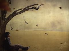 Tiver (Aaroncillo) Tags: portrait selfportrait art digital photomanipulation photoshop sadness alone sad time surrealism watch aaron over dream surreal manipulation ps mind imagination nightmare imadethis unreal conceptual gil flickrfriday creativi aaroncillo