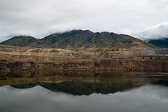 Berkeley Pit (IRL_f) Tags: mountain reflection water metal berkeley montana butte pit mining cleaning strip facility heavy