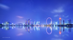 Singapore Skyline at night (Nico Manansala) Tags: park city bridge blue light sea 2 woman white black window water girl beauty fashion skyline museum female night digital marina reflections lights bay amusement high glamour nikon singapore long exposure cityscape dynamic district butt central indoor lingerie bum casino sensual fisheye business explore hour esplanade planet boudoir cbd helix nikkor sands lowkey range bodypart dri f28 hdr intimacy bodyscape mbs blending skypark d300 105mm artscience danielcheong danielkhc