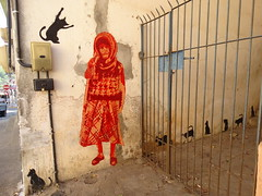 Since you've gone, I've been lost without a trace (Lívia.Monteiro) Tags: street cats art wall paint arte urbana