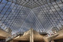 Inside the pyramid (dandanthesushiman) Tags: paris pyramid louvre