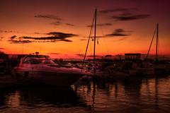 just a whisper (JimfromCanada) Tags: sunset orange ontario canada reflection night dark boats evening harbor dock nikon harbour portelgin d800 jimsmith jimfromcanada