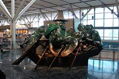 The Spirit of Haida Gwaii, The Jade Canoe (A.G. Buron Photography) Tags: statue vancouver airport yvr vancouverbc bronzecasting yvrairport thejadecanoe thespiritofhaidagwaii armandburon