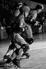 rebels_vs_panic_L1063684 1 (nocklebeast) Tags: ca usa santacruz rollerderby rollergirls zombies vampires skates organicpanic santacruzderbygirls redwoodrebels